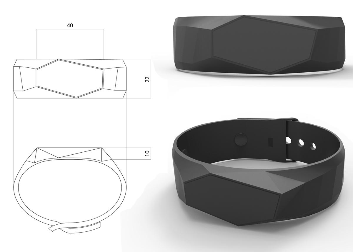 3D модель браслета для состояния здоровья