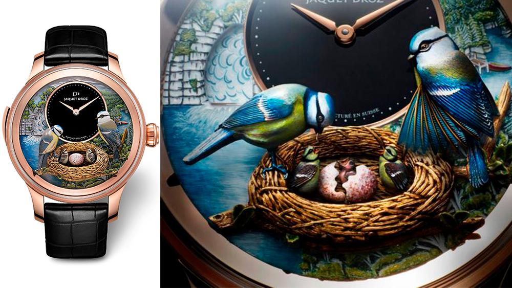 Дизайн наручных часов с элементами природы