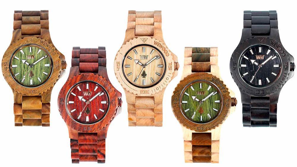 Дизайн наручных часов из дерева