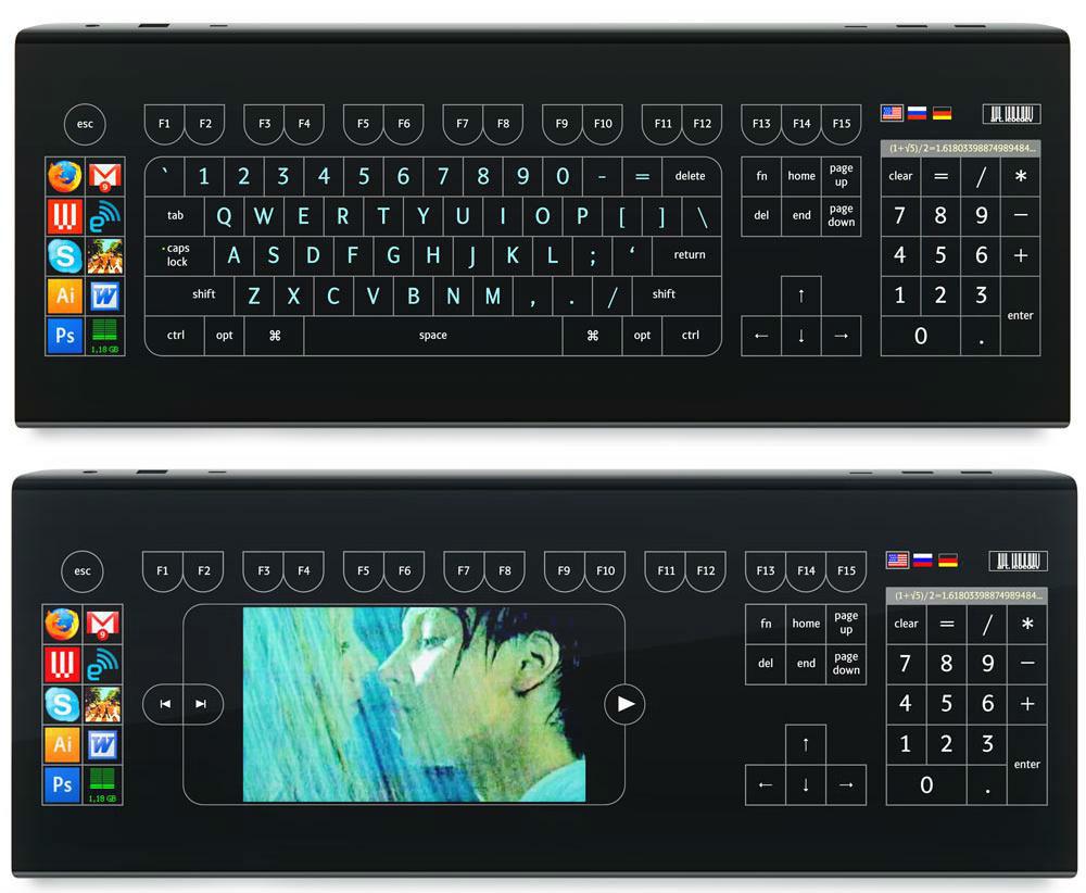 Optimus Tactus осмелилась разработать дизайн клавиатуры с сенсорной поверхностью!