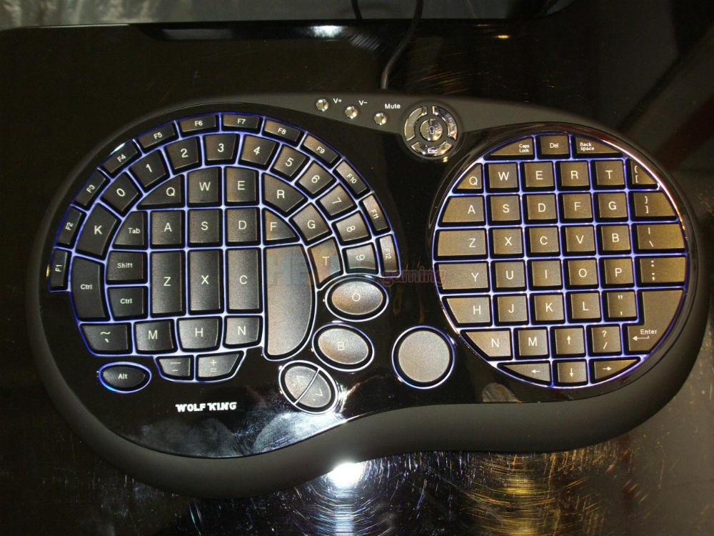 Промышленный дизайн клавиатуры с двумя кругами, состоящими из клавиш, - это что-то особенное!