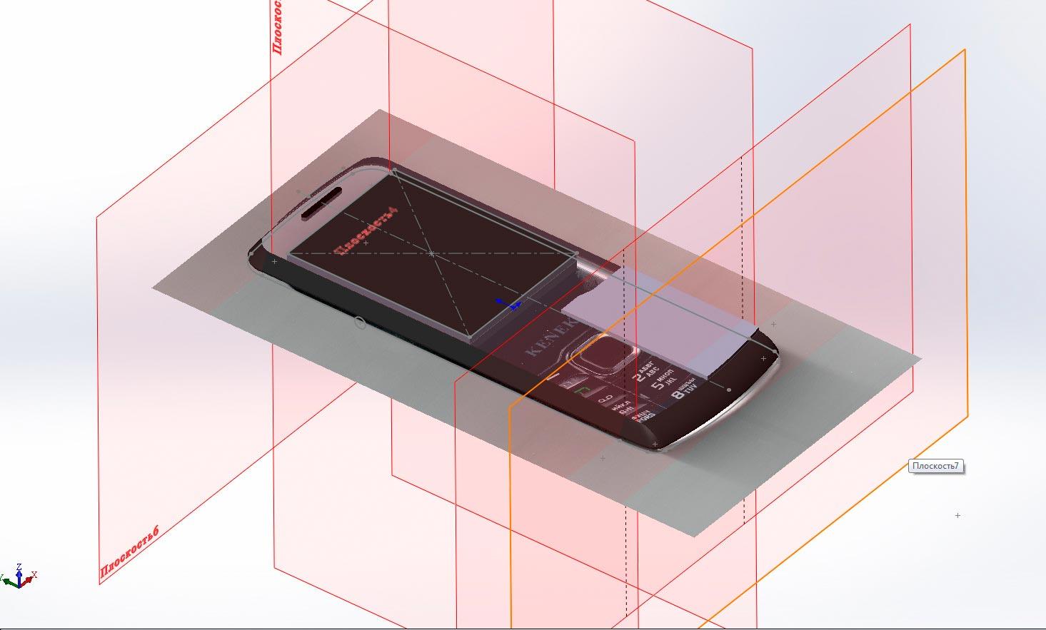 Создание 3д-модели телефона