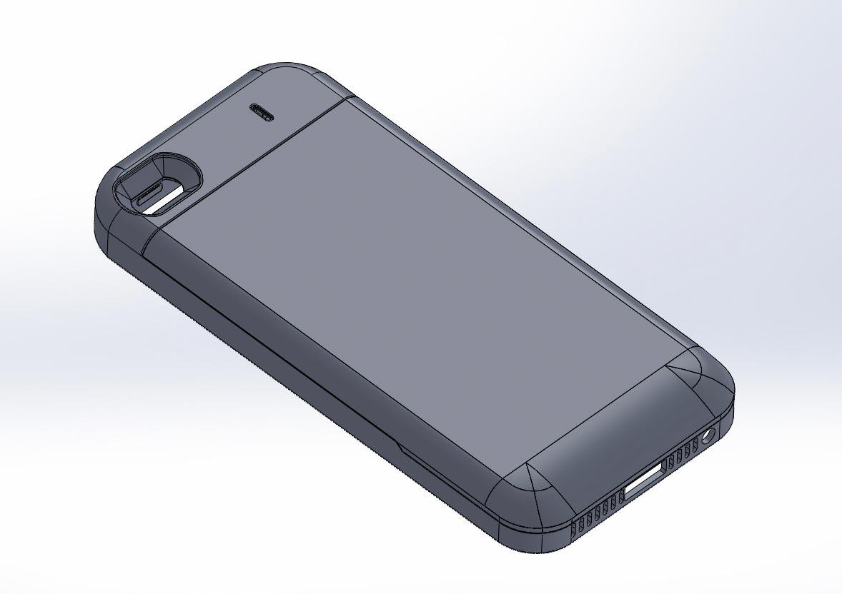 3д модель чехла iPhone