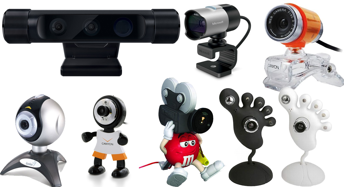 Веселые корпуса веб-камер